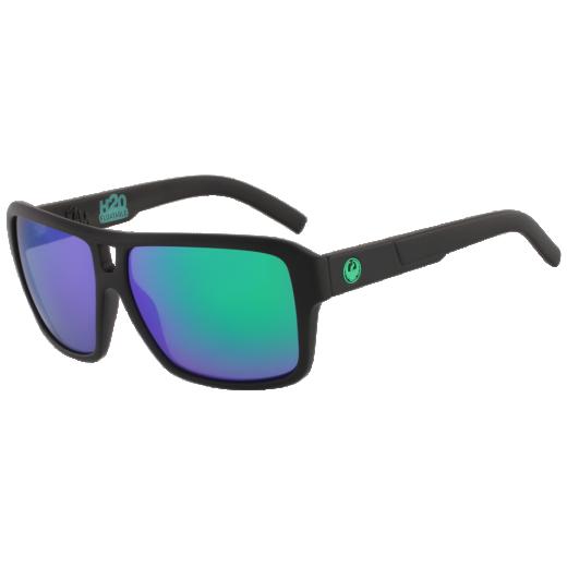 Ochelari de Soare Dragon The Jam Matte Black H2O / Green Ion Polarized