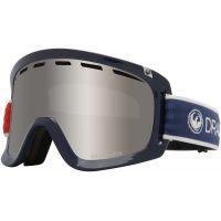 Ochelari Ski si Snowboard Dragon D1 OTG Designer / Lumalens Silver Ion + Lumalens Flash Blue