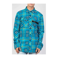 NEFF Engine Flannel Cyan