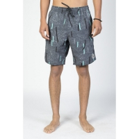 NEFF CON HOT TUB SHORT CHARCOAL