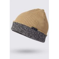 NEFF DOUBLE HEATER BEANIE TAN/TWILL