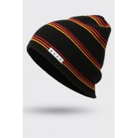 NEFF DAILY STRIPE BEANIE BLACK/RED/GOLD