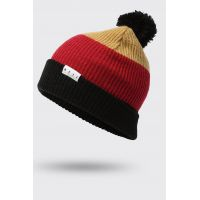 NEFF SNAPPY BEANIE TAN/RED/BLACK