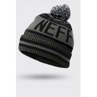 NEFF SAMPION BEANIE CHARCOAL/BLACK/GREY HEATHER